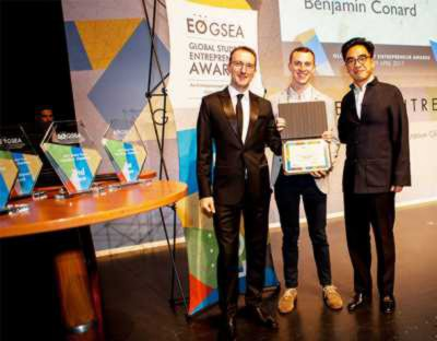 His business idea even got him into the final of the Global Student Entrepreneur Awards (GSEA), which was held in Frankfurt this year. (Photo: GSEA)
