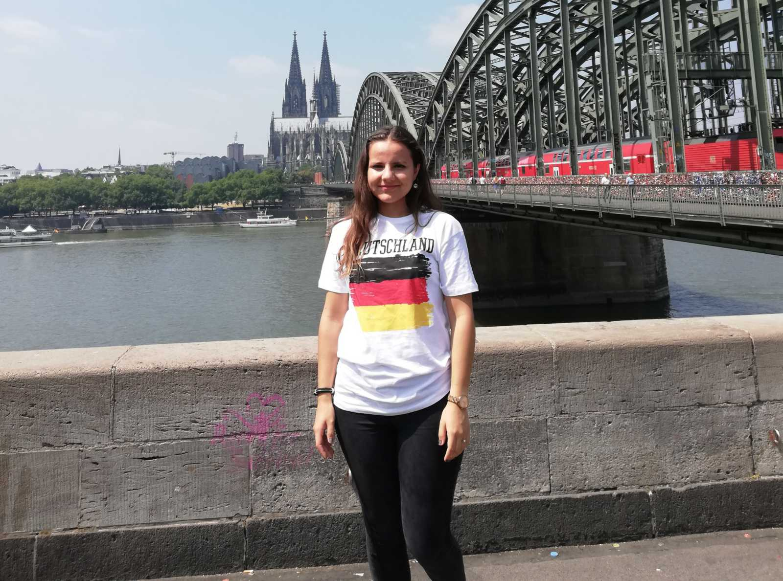 "Özge soon learned that ""home is where the Dom is,"" when exploring Cologne. (Photos: private)"