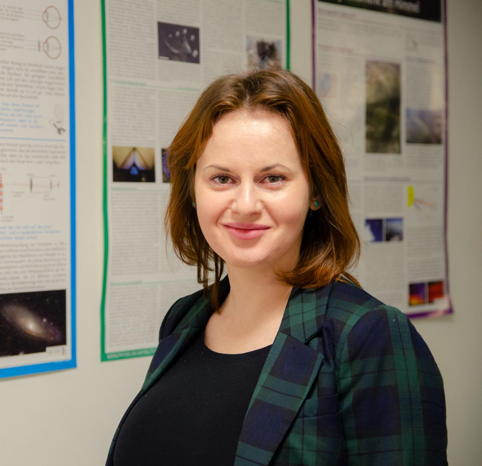 Svitlana Sovinska is doing a PhD at Cracow University of Technology, which involves her conducting research with us here in Steinfurt.